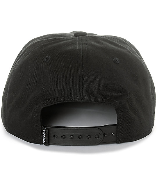 Coal The Kooks Black Snapback Hat