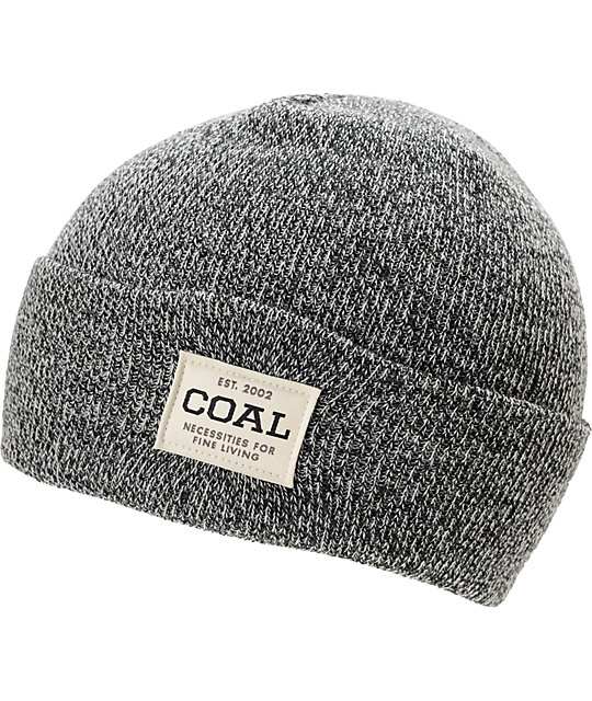Coal The Uniform Black Fold Beanie