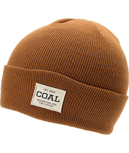 Coal The Uniform Brown Cuff Beanie