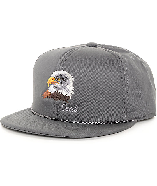 Coal The Wilderness Eagle Charcoal Snapback Hat