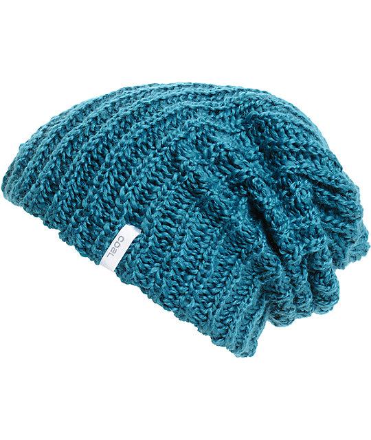 Coal Thrift Knit Petrol Beanie