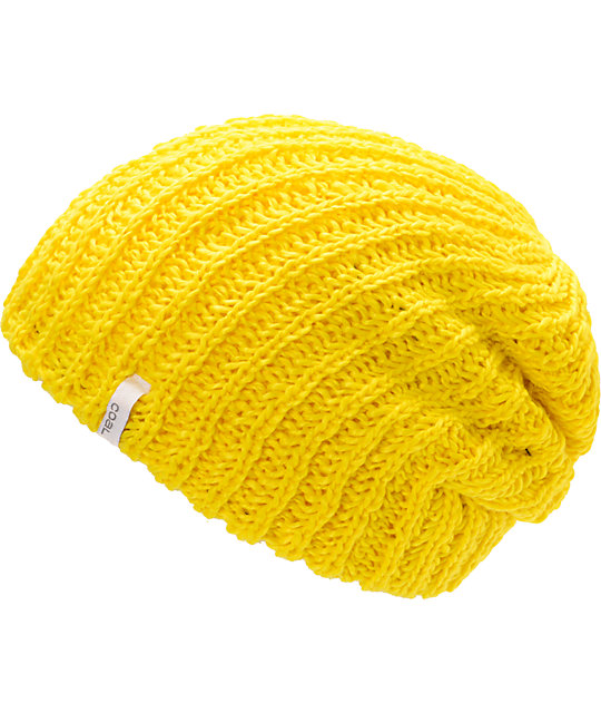 Coal Thrift Yellow Knit Beanie
