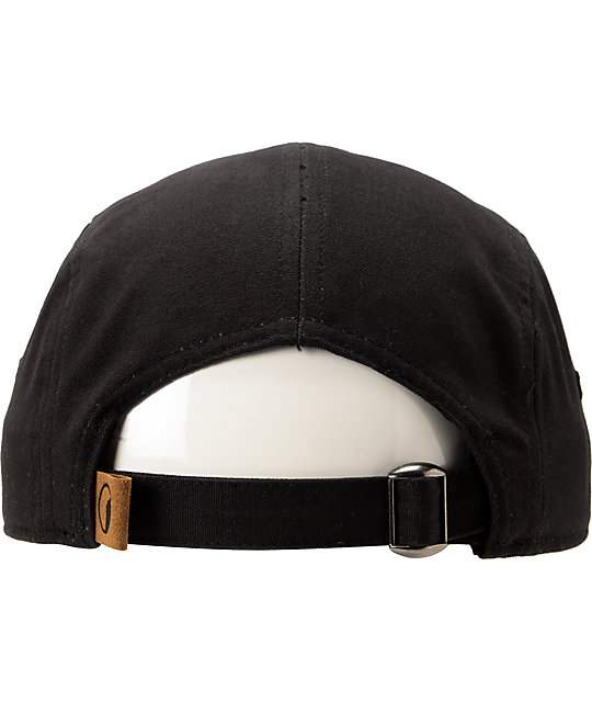 Coal x Otter Wax Richmond Black 5 Panel Strapback Hat