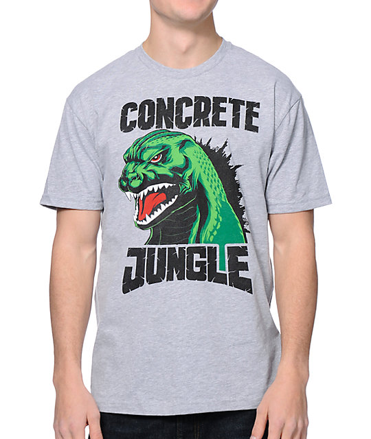 Concrete Jungle Godzilla Grey T-Shirt