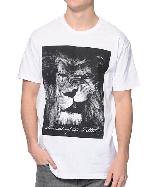 Concrete Jungle Lion Swagger White T-Shirt