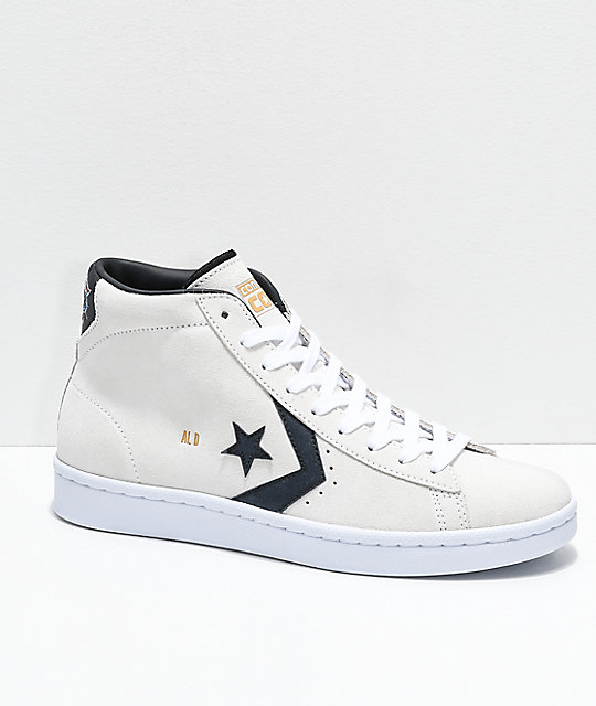 Converse Al Davis Court Pro Leather White Skate Shoes
