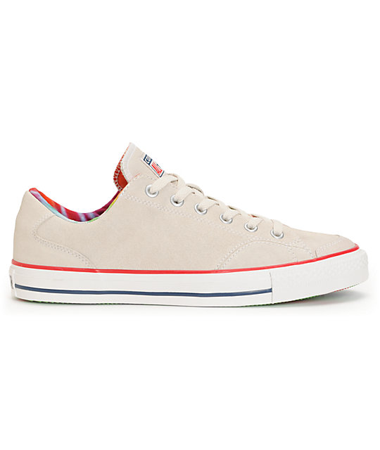 Converse CT LS Parchment White Suede Shoes