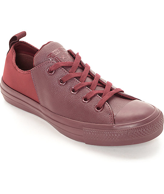 Converse CTAS Abbey Low Bordeaux Mono Women's Shoes