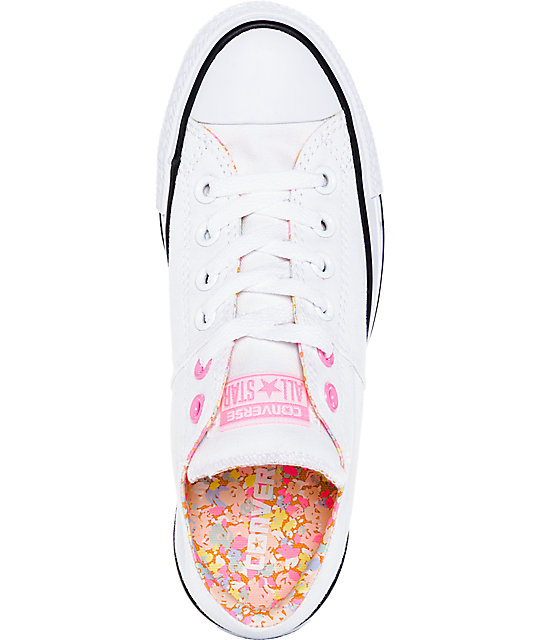 Converse CTAS Madison White & Pink Shoes