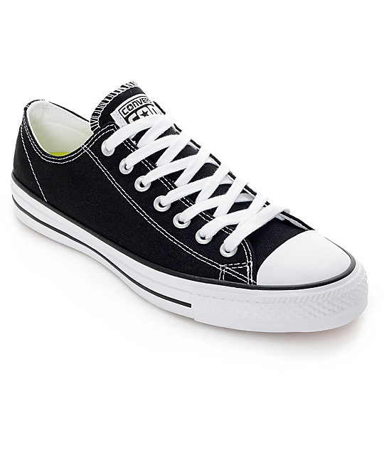 converse ctas pro black white canvas shoes