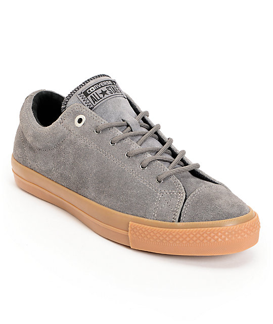 Converse CTS Charcoal & Gum Suede Skate Shoes
