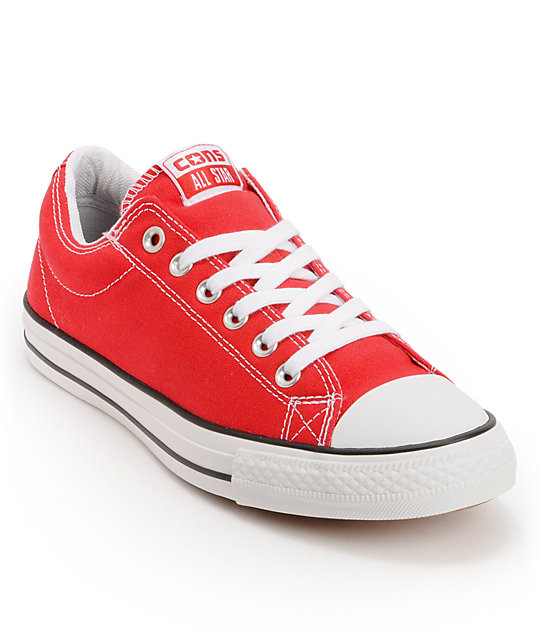 Converse CTS Red & White Skate Shoes