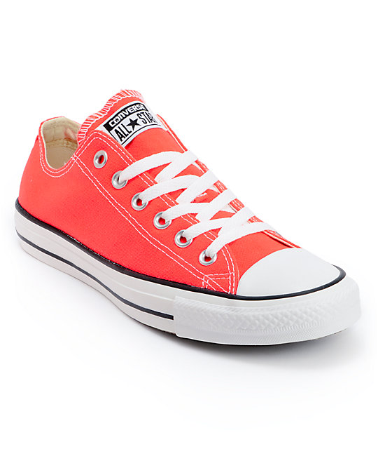 Converse Chuck Taylor All Star Fiery Coral Shoes At Zumiez