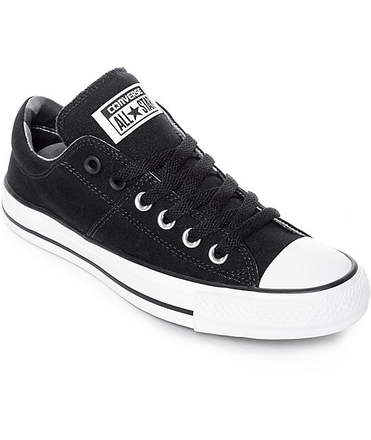 converse all star black. converse chuck taylor all star ox madison black \u0026 white shoes