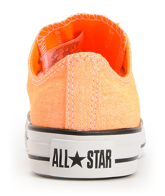 Converse Chuck Taylor All Star Washed Neon Orange Shoes