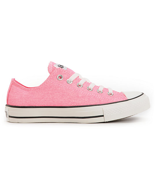 Converse Chuck Taylor All Star Washed Neon Pink Shoes