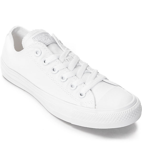 Converse Chuck Taylor All Star White Monochrome Shoes (Womens)