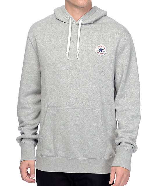 Converse Core Popover Heather Grey Hoodie