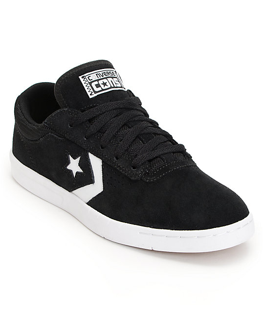 Converse KA-Two Lunarlon Black & White Suede Skate Shoes