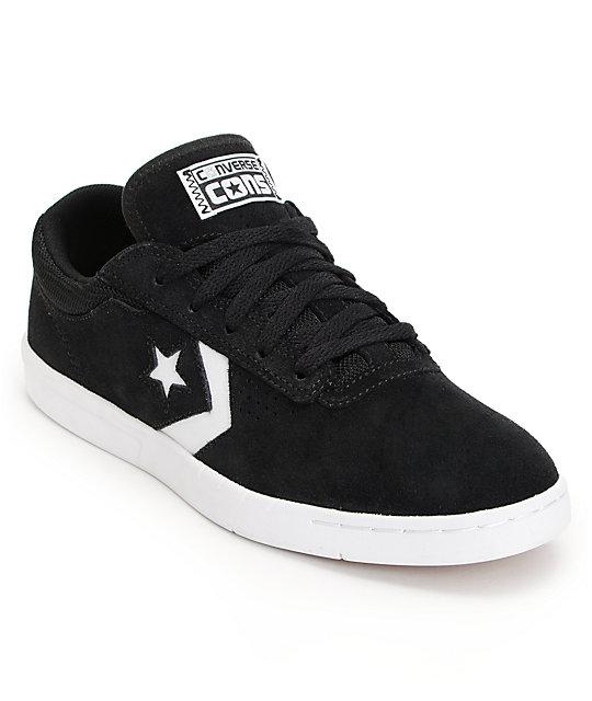 Converse KA-Two Lunarlon Black & White Suede Skate Shoes