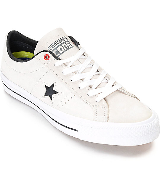 Converse One Star Pro White & Black Shoes