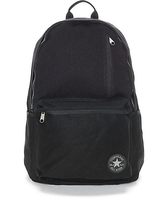 Converse Original Black Canvas Backpack At Zumiez Pdp