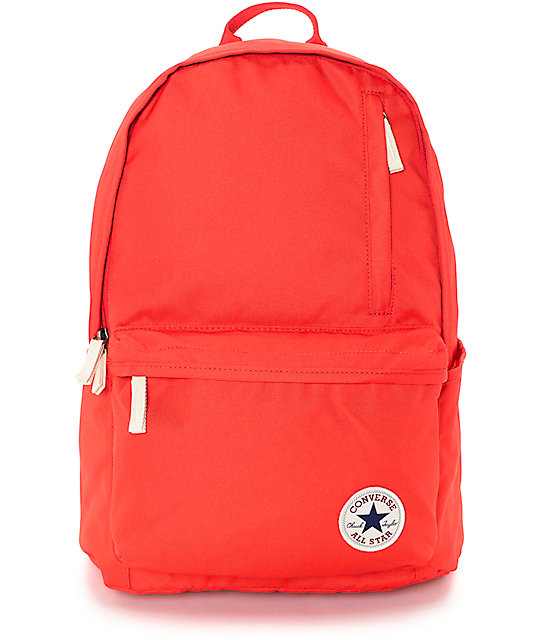 converse backpack red