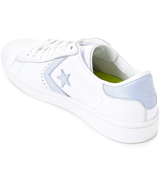 Converse PL LP Ox White & Porpoise Womens Leather Shoes