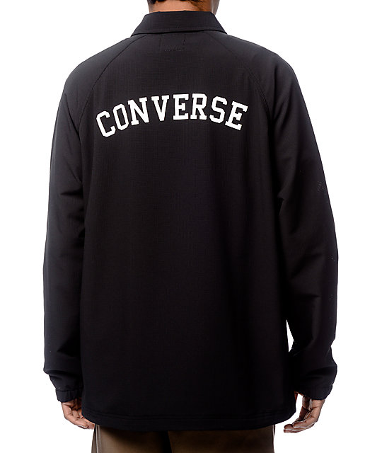 Converse Perforated Black Coaches Jacket