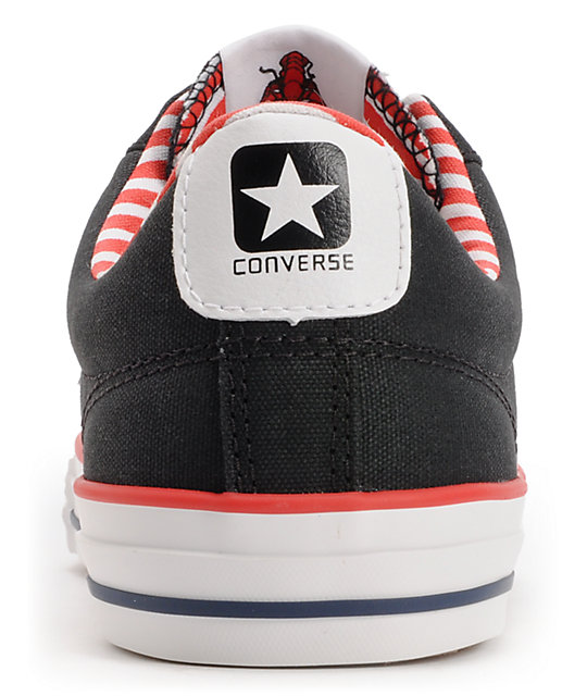 Converse Star Player Black & Americana Shoes