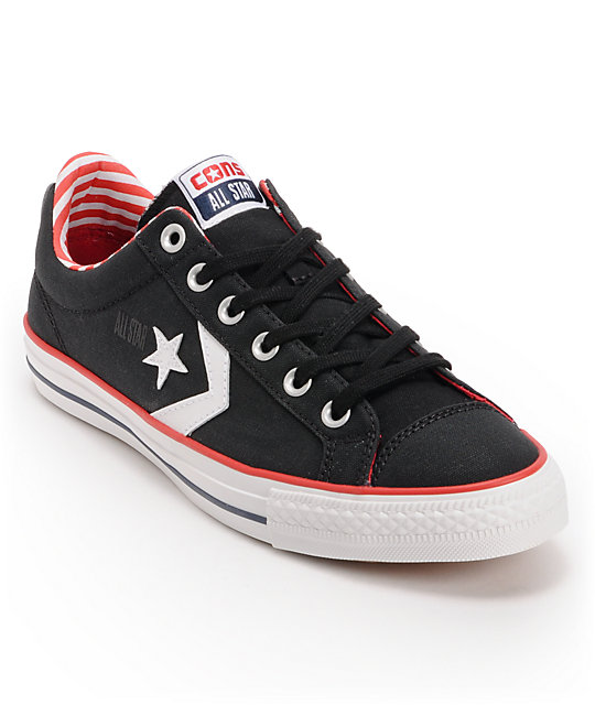 Converse Star Player Black & Americana Skate Shoes