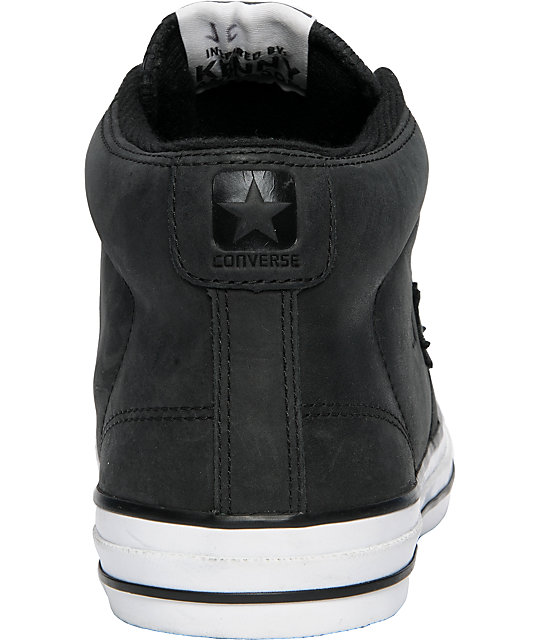 Converse Star Player S II Mid Black Leather Shoes