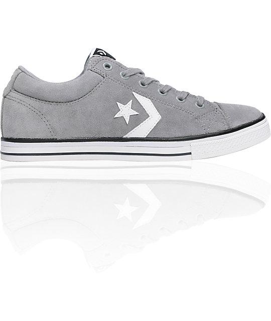 Converse Star Player x Lite Grey & White Shoes