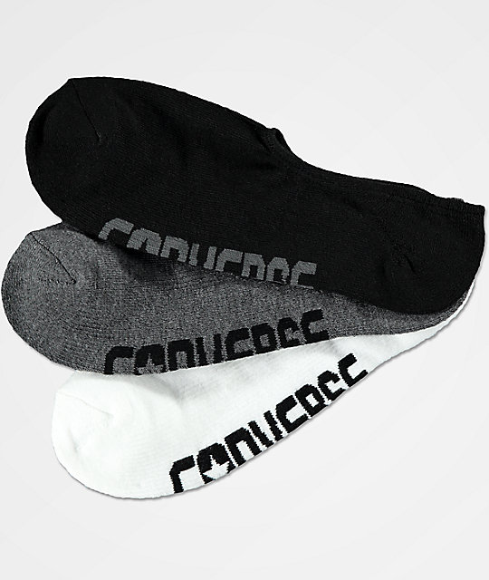 762f23980cf1d Shoptagr | Converse Ultra Low White, Dark Grey &Amp; Black 3 Pack No Show  Socks by Converse