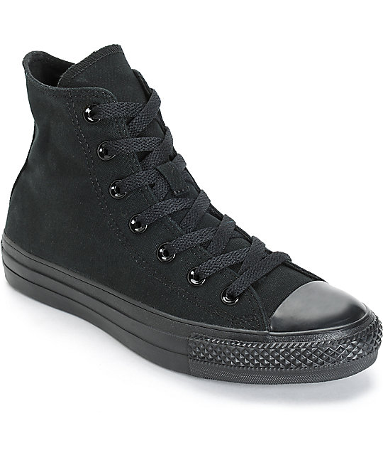 all black high top converse women