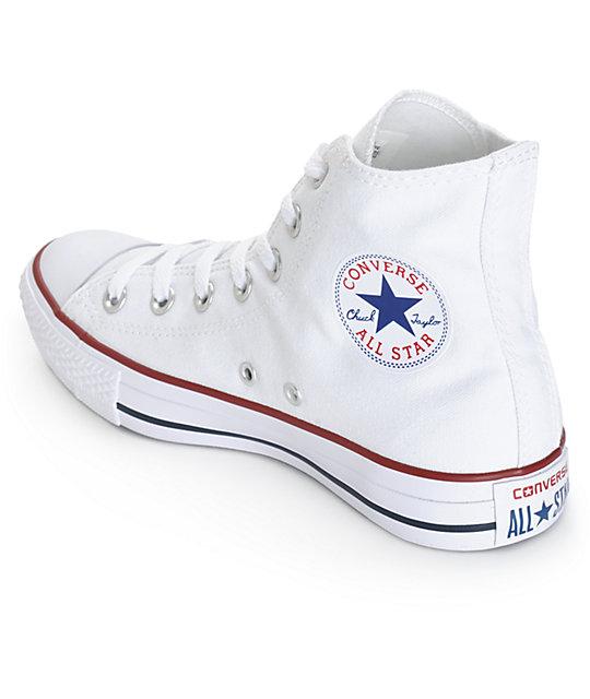 converse womens chuck all white high top shoes