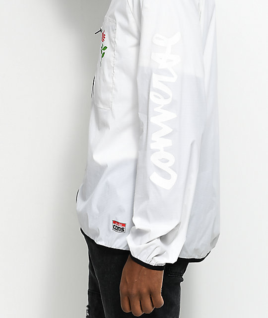 Converse X Chocolate Packable White Windbreaker Jacket