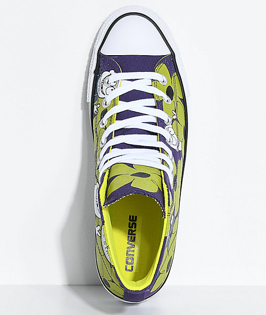 Converse x Dinosaur Jr. CTAS Pro Purple, Green & White Skate Shoes