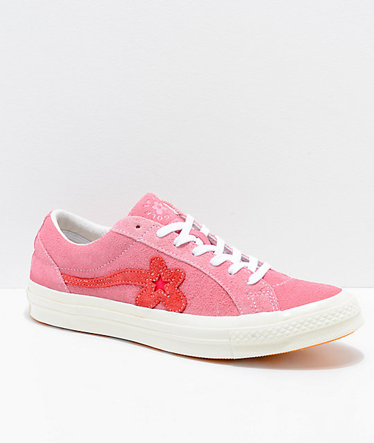Converse x Golf Wang One Star Le Fleur Geranium Shoes