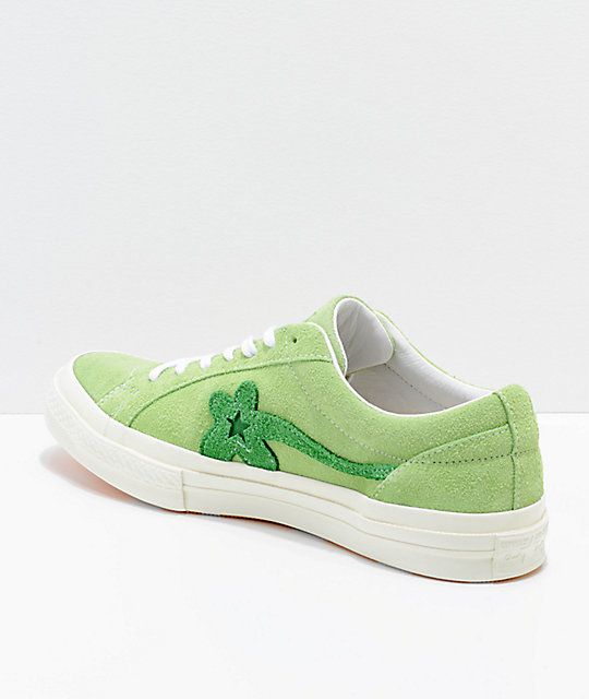 Converse x Golf Wang One Star Le Fleur Jade Lime Shoes