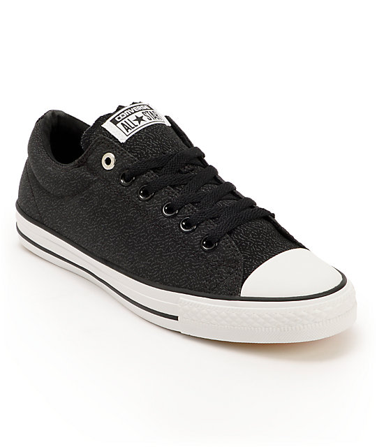 Converse x Santa Cruz CTS Ox Black & White Skate Shoes