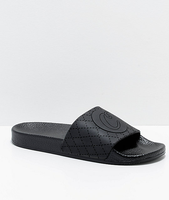 Cookies Burn Rubber Black Slide Sandals