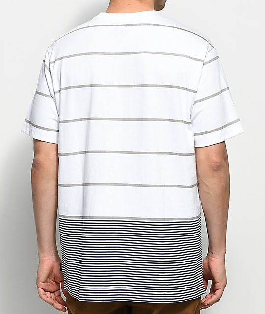 Cookies Monterey Striped Cotton Knit White T-Shirt