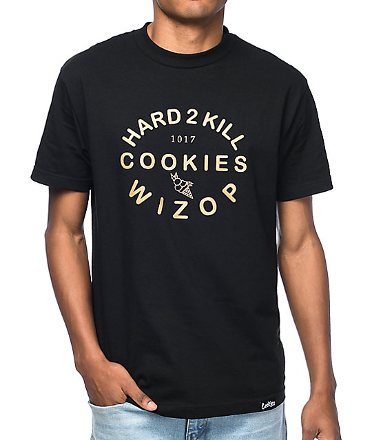 Cookies x Wizop Gold Lingo Black T-Shirt