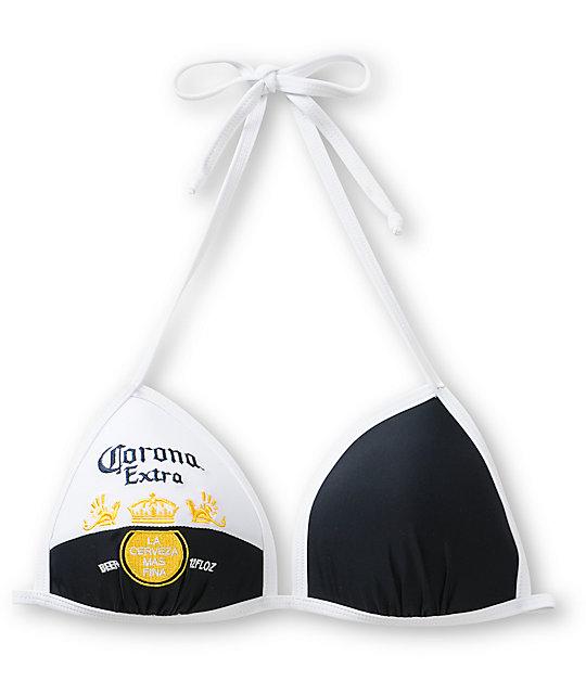 Corona Navy & White Molded Cup Bikini Top