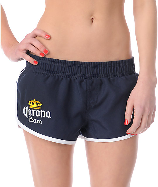 Corona Navy Retro Board Shorts