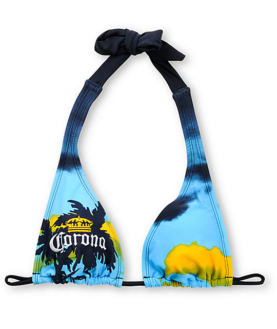 Corona Swim Sunset 2 Sliding Halter Bikini Top