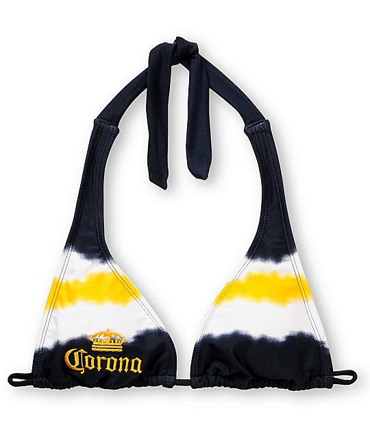 Corona Swim Tie Dye Halter Bikini Top