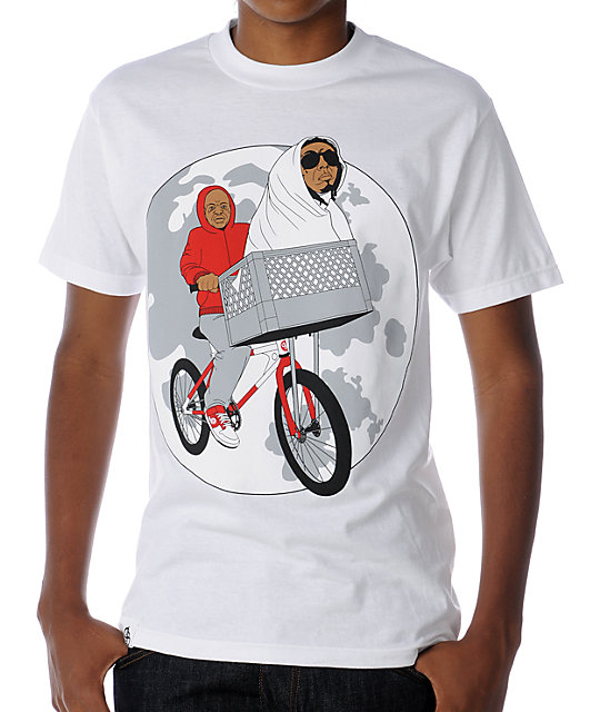 Counter Balance Phone Home White T-Shirt