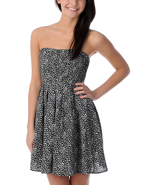 Crafty Cheetah Print Tube Dress